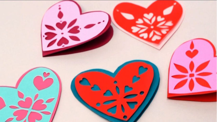 paper craft ideas for valentines day how to make snowflake hearts parents 7858