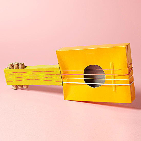 Make a guitar from everyday items for What to make out of cereal boxes