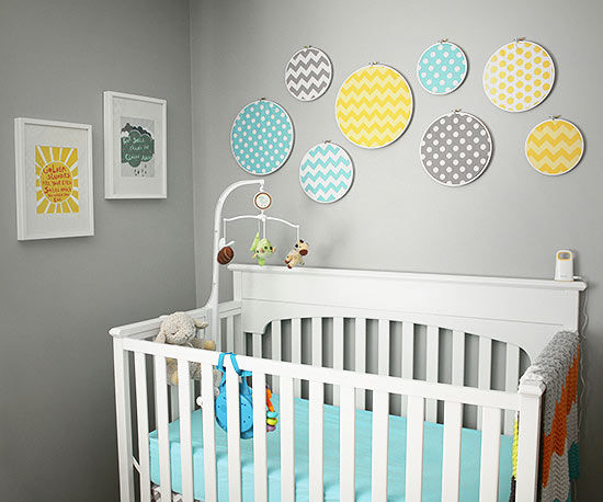 Modern nursery ideas Nursery wall ideas