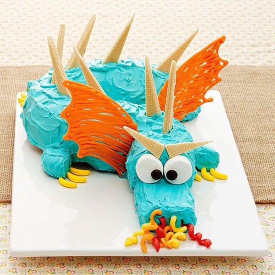 Dragon Birthday Party Cake