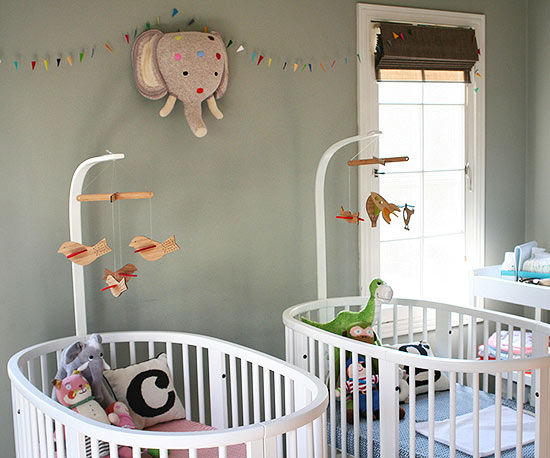 Twin nursery ideas for Baby cot decoration ideas