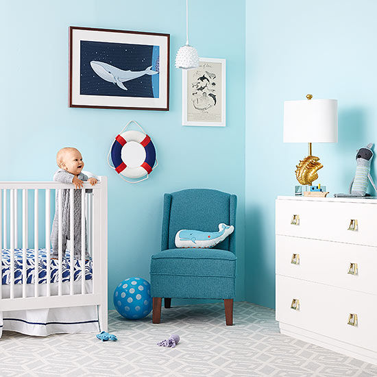 The Hallam Family Baby Room Ideas: Best Products To Design A Sea-Themed Nursery Room