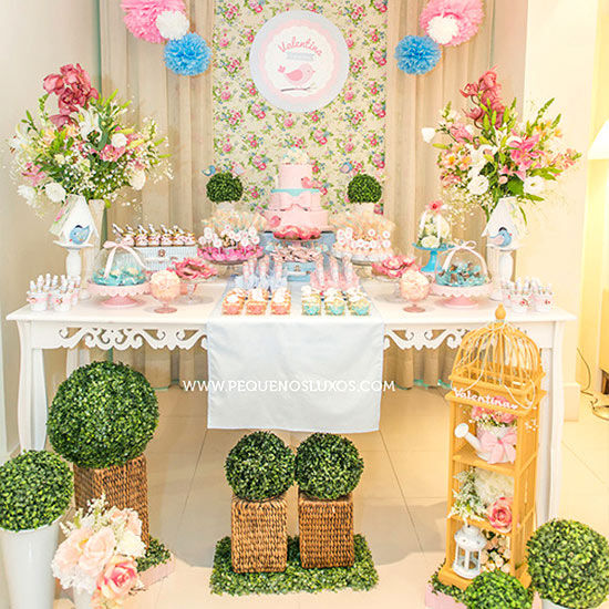 Baby girl shower themes we love for Baby shower decoration ideas for twin boys