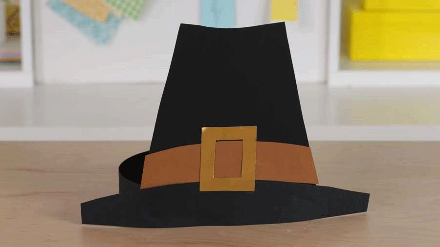 thanksgiving kid craft pilgrim hat parents