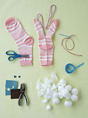 Easter Crafts Sock Bunnies