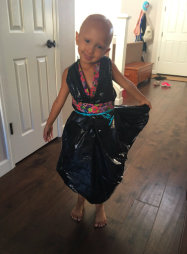 This 4 Year Old Is Turning Trash Bags Into Treasure One