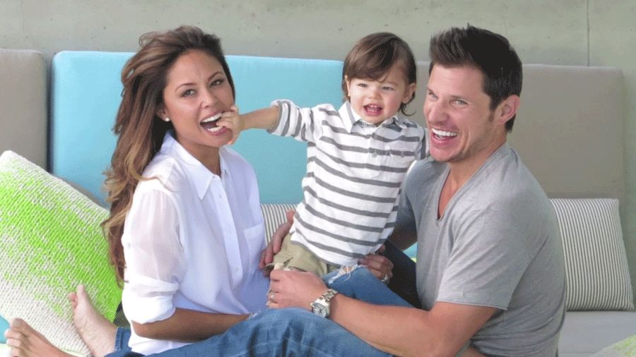 nick and vanessa lachey the new parents game parents