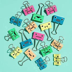 Funny Face Binder Clips