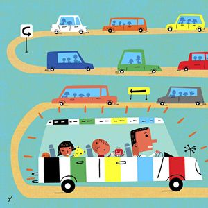 Best Family Cars Illustration