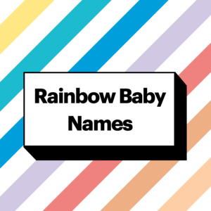 rainbow baby names illustration