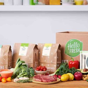 Groceries HelloFresh Food on Counter