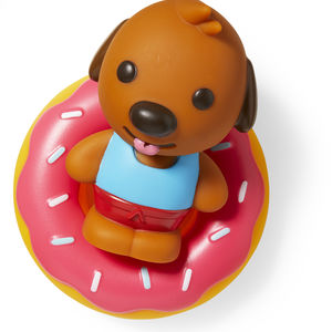bath toy animal on donut