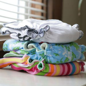 different types of cloth diapers stack