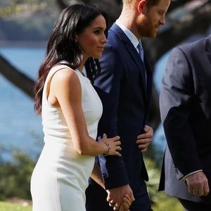 White Dress Pregnant Megan Markle and Prince Harry