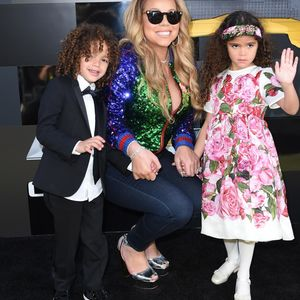 Mariah Carey and Kids on Premiere Carpet