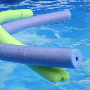 Pool Noodles floating in pool