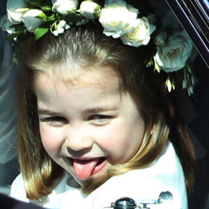 Princess Charlotte Sticking Tongue Out In Car Window