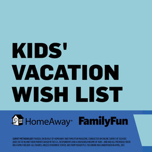 HomeAway and FamilyFun Kid Vacations Infographic