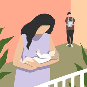 Illustration Unequal parenting