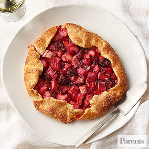 Strawberry and Rhubarb Galette