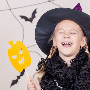 laughing witch girl