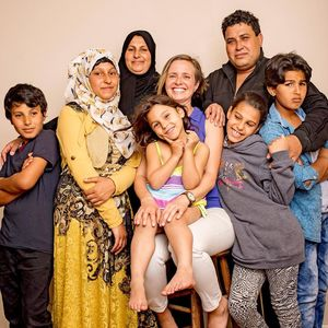 Miry Whitehill and Syrian refugee family