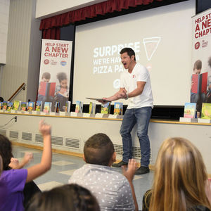 Nick Lachey and Pizza Hut Literacy Project