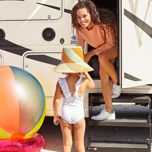 Laura Scott and Daughter In Front of RV