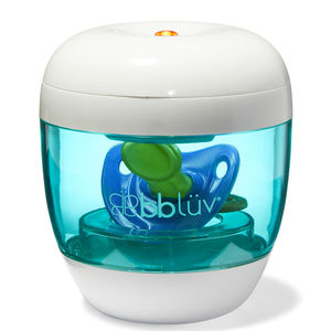 Üvi 4-in-1 Portable Pacifier & Nipple UV Sterilizer and the UV bulb
