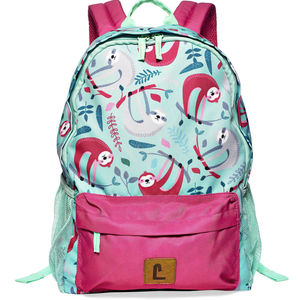 Blue and Pink Sloth Backpack