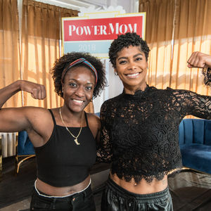 Massy Arias with fan at Power Mom Panel