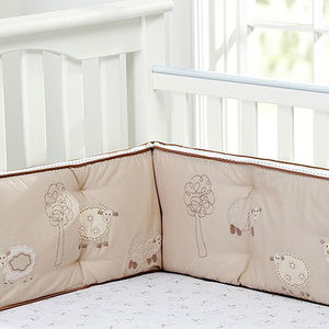 Pottery Barn Kids Sweet Lambie Crib Bumpers Recalled recall image
