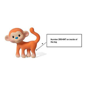 Go Gaga Squeeze & Teethe Coco the Monkey Teething Toys Recalled recall image