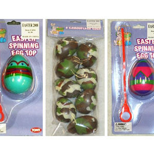 Easter Egg Containers and Spinning Egg Tops Recalled recall image