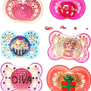 Pacifiers Decorated with Crystals Recalled recall image