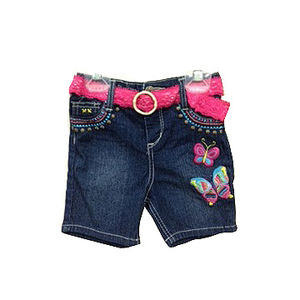 Franshaw Pink Angel Embroidered Girls' Denim Shorts Recalled recall image