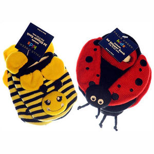 Meijer Bumble Bee and Lady Bug Infant Slipper Socks Recalled recall image