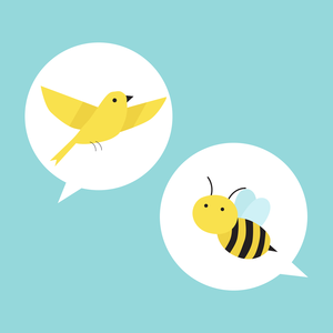 illo Birds and bees
