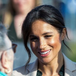 Meghan Markle Closeup Hair Up