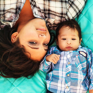 teen mom and son