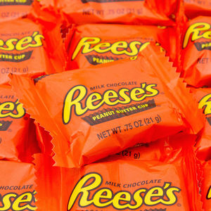 Reeses Peanut Butter Cups Stacked Orange Wrapper