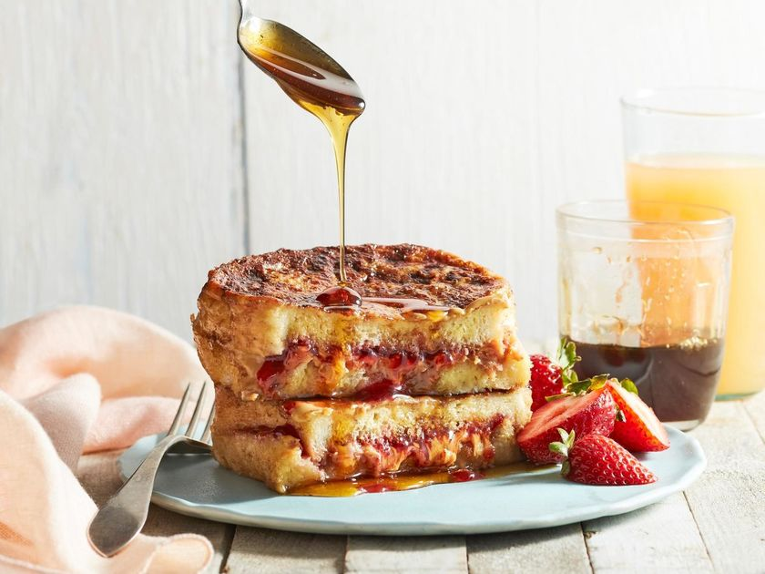 Stuffed Peanut Butter and Jelly French Toast