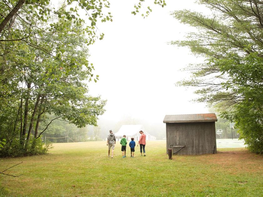 Family Walking Camp Grounds