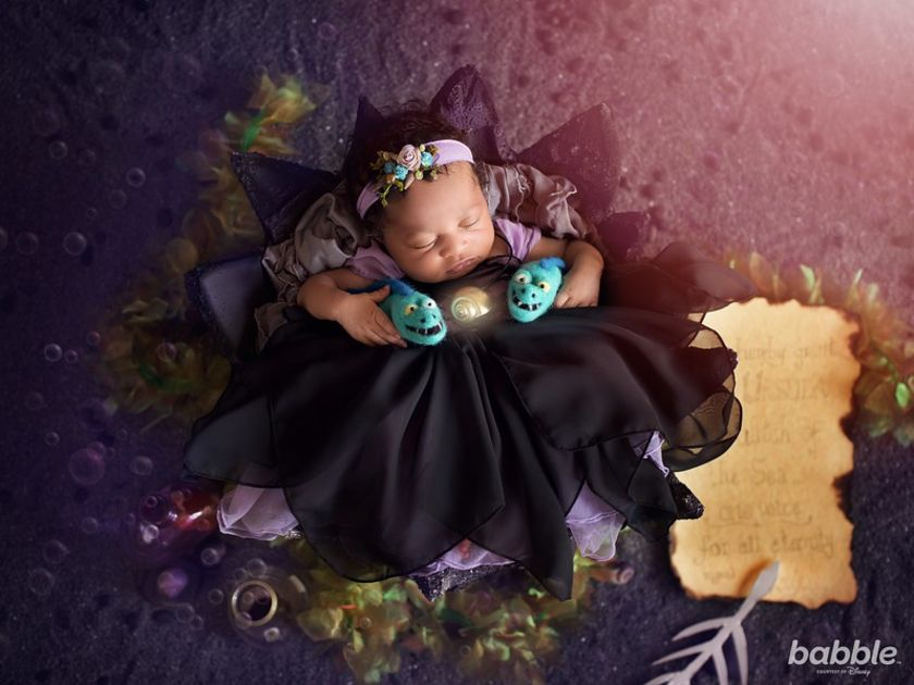 Babble Disney Villains Newborn Shoot by Karen Marie Ursula