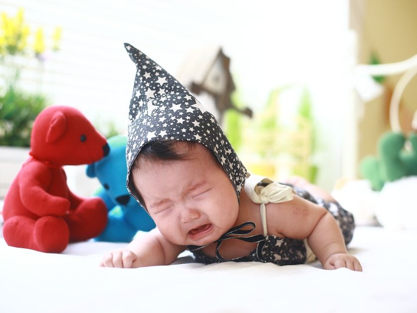 crying baby hates tummy time
