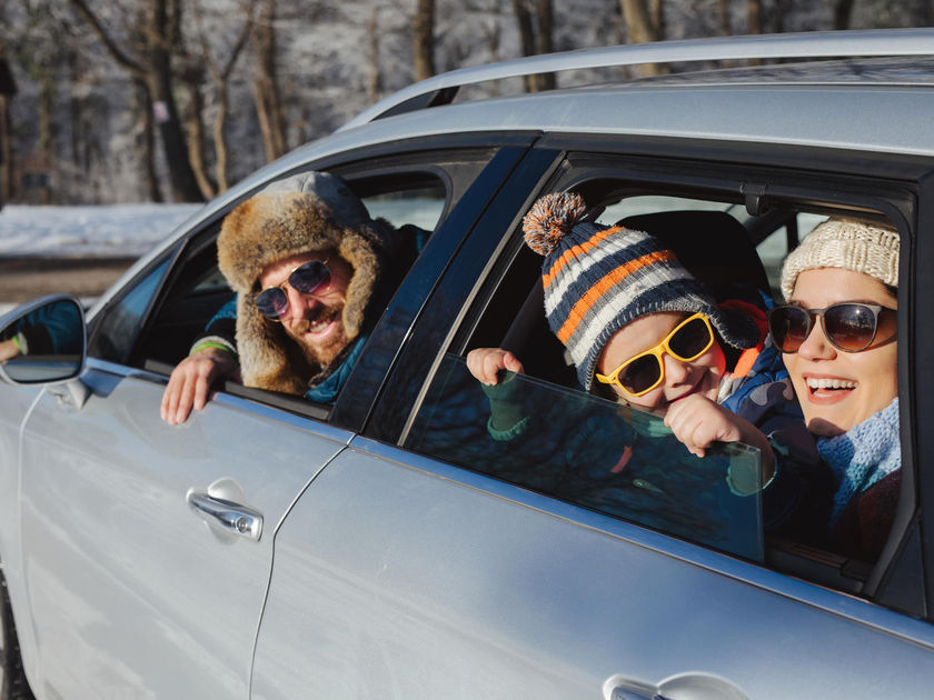 Family's Winter Road Trip
