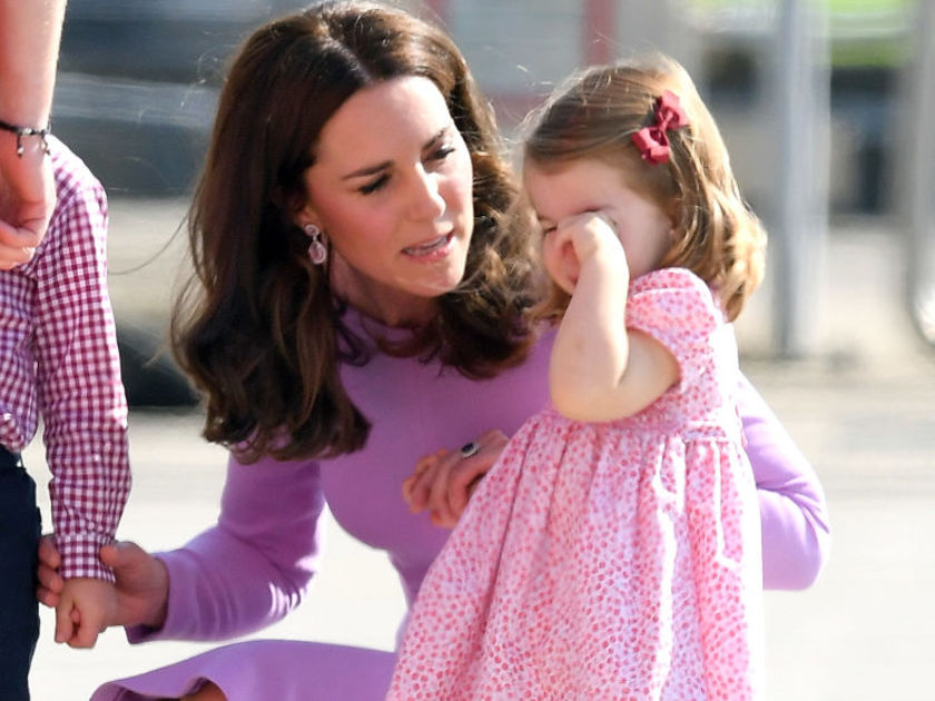 Duchess of Cambridge addressing Princess Charlotte Tantrum