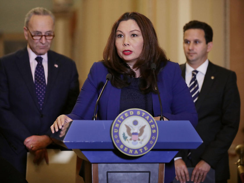 Senator Tammy Duckworth Speaks To The Media After Weekly Policy Luncheons