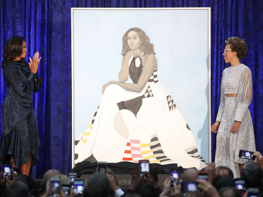 Michelle Obama and Amy Sherald portrait unveiling
