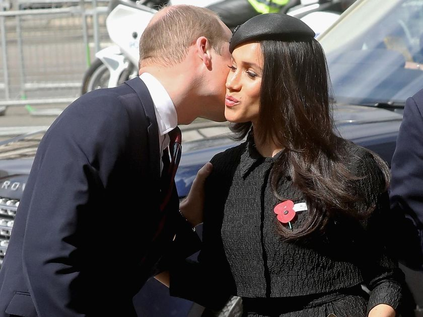 Prince William Greets Meghan Markle Kiss On The Cheek